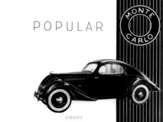 Skoda Popular Monte Carlo, advertisement from 1936